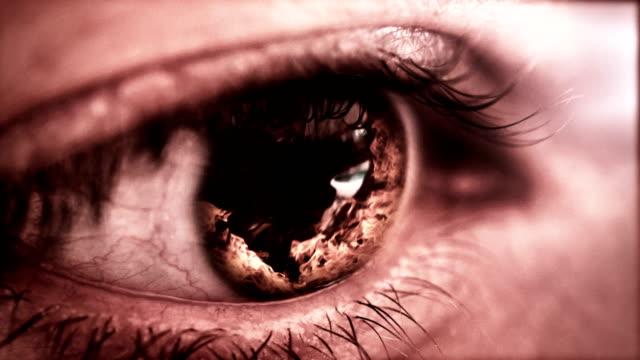 ilska-konceptet: ögat fyllning med rage - 4 kilometer bildbanksvideor och videomaterial från bakom kulisserna