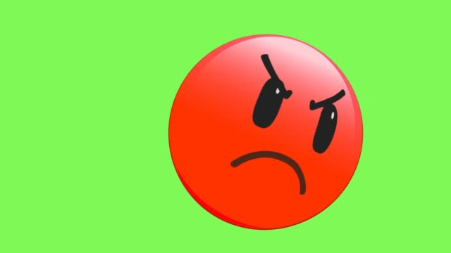 anger face emoji - furioso video stock e b–roll