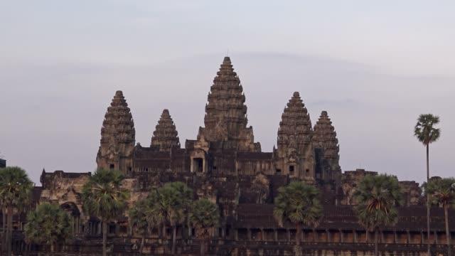 4k,吳哥窟從側面看。世界上最大的宗教紀念碑 - 東南 個影片檔及 b 捲影像