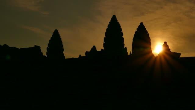 Angkor Wat Temple at Sunrise video