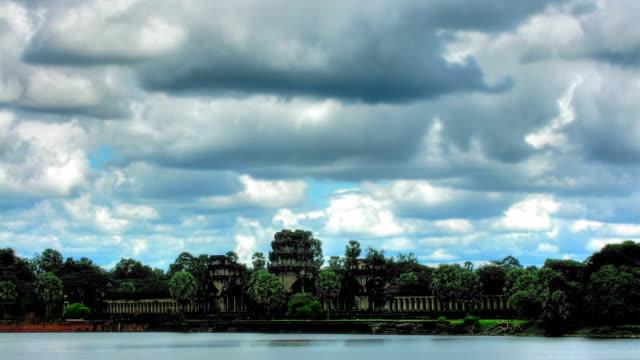 Angkor Wat temple time lapse loop video