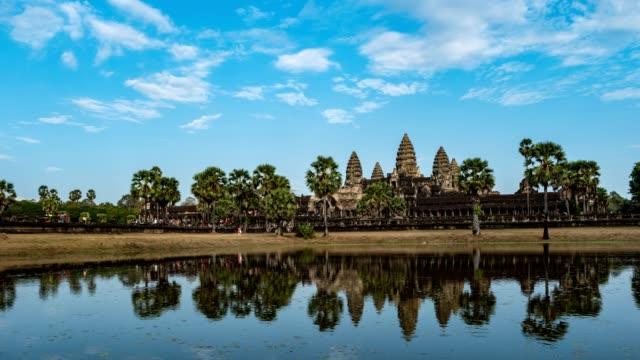Angkor Wat temple timelapse, Siem Reap, Cambodia, 4K Time lapse video