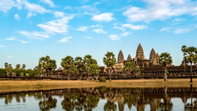 Angkor Wat temple timelapse, Siem Reap, Cambodia 4K Time lapse video