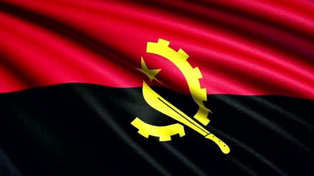 Angola Flag 4K video