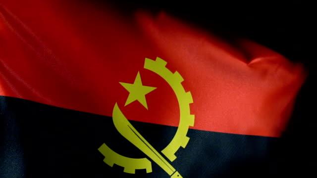 Angola Flag Flapping