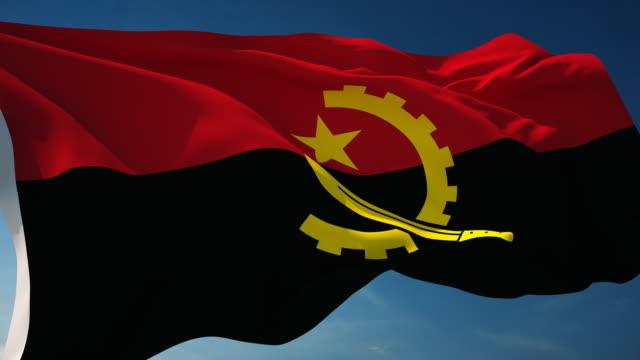 Angola Flag - Loopable video