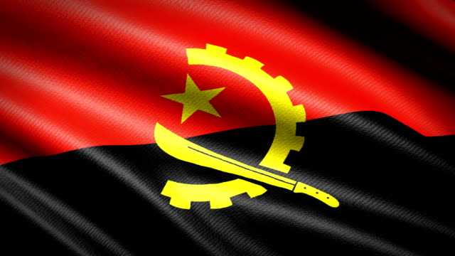 Angola Flag. Seamless Looping Animation. 4K High Definition Video video