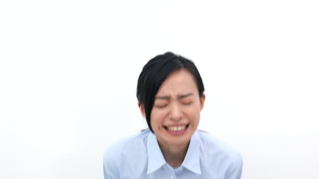 怒りビジネスの女性 - 美人点の映像素材/bロール
