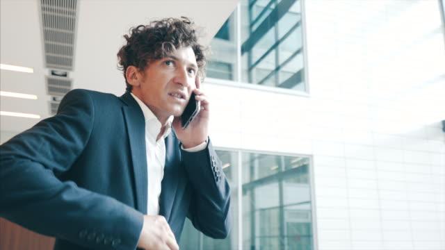 angry businessman. - rabbia emozione negativa video stock e b–roll