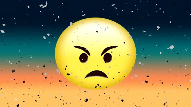 angry face emoji - rappresentazione umana video stock e b–roll