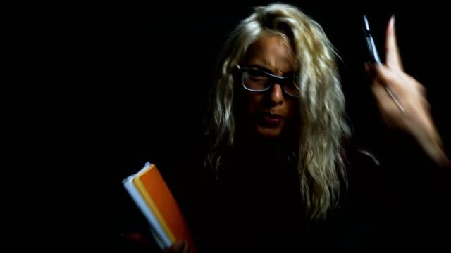 Angry female teacher video