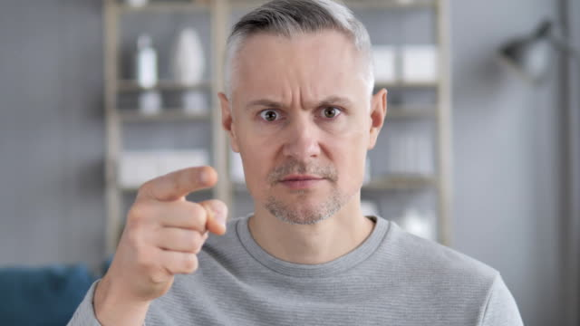 Angry Yelling Gray Hair Man Reacting to Problem at Work video