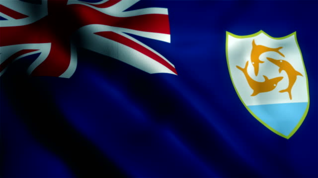 Anguilla waving flag Anguilla, The Americas, 4K Resolution, Constitution, Democracy free stock without watermark stock videos & royalty-free footage