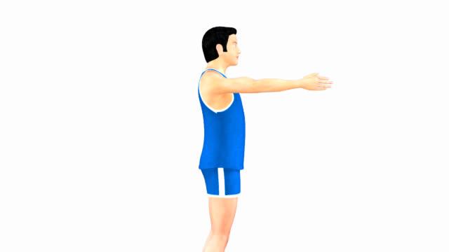 angular movement of shoulder joint - axel led bildbanksvideor och videomaterial från bakom kulisserna