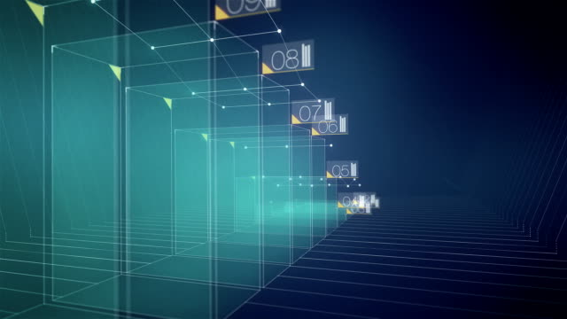 Animated 3D Blue Bar Graph video