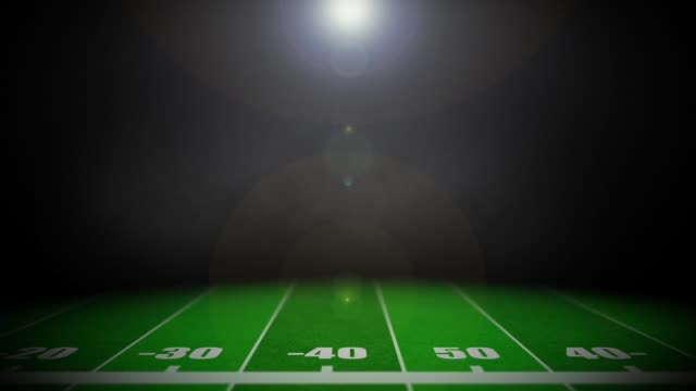 Animated American Football Field Background