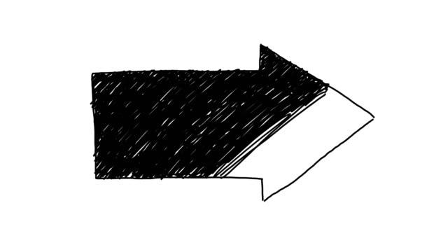 animasyonlu ok arka plan kroki stili - arrows stok videoları ve detay görüntü çekimi
