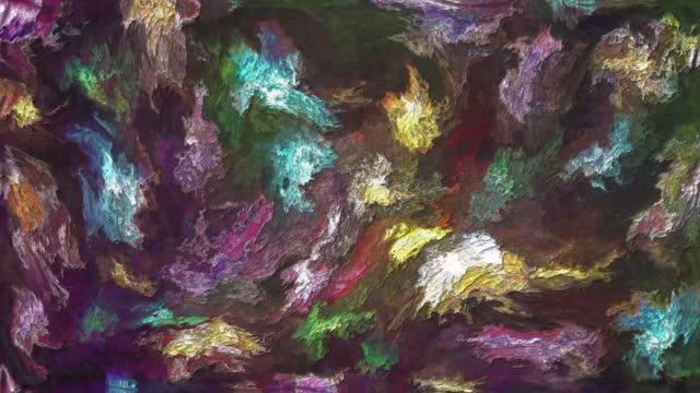 vídeos de stock, filmes e b-roll de paleta de cores artísticas animadas - estampa floral