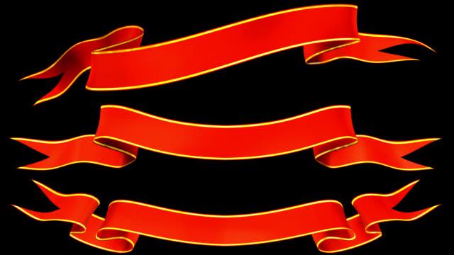animated banners - ribbon stok videoları ve detay görüntü çekimi