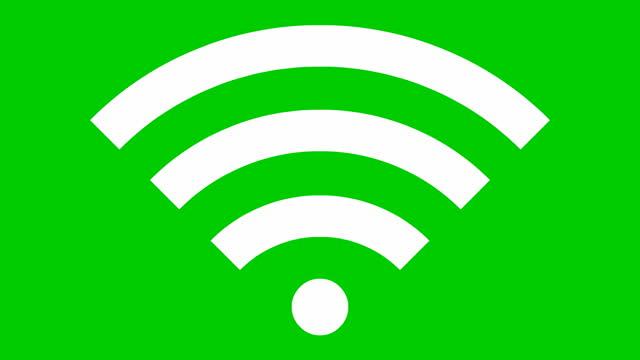 icona nera animata del wi-fi. video in loop. illustrazione vettoriale isolata su sfondo bianco. - simbolo video stock e b–roll