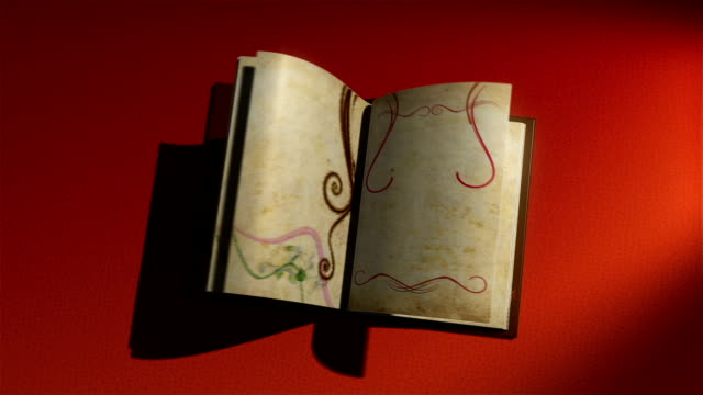 animated book with turning pages video