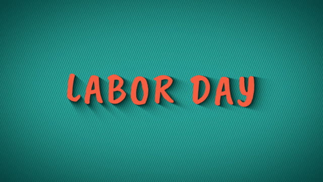 Animated bouncing letters 'Labor Day' video
