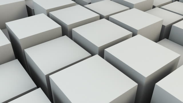 Animated Boxes Background Loop - Bone White (FULL HD) video