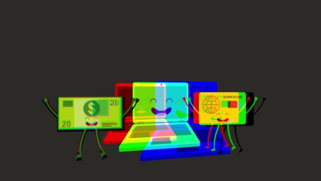 vídeos de stock, filmes e b-roll de animado ícone de negócios desenho, animação de vídeo - clipe
