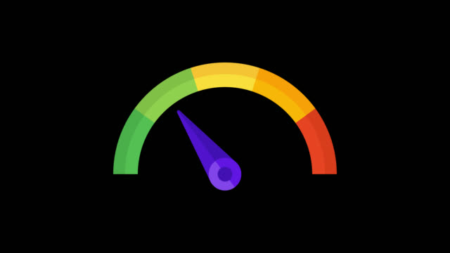 Animated business speedometer option 1. Transparent background