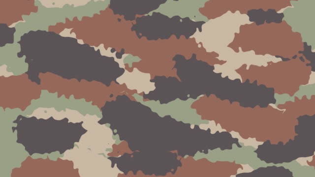 Animated Camouflage textured background video