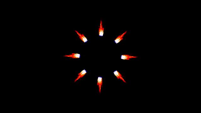 Animated Cartoon Engine Flames video