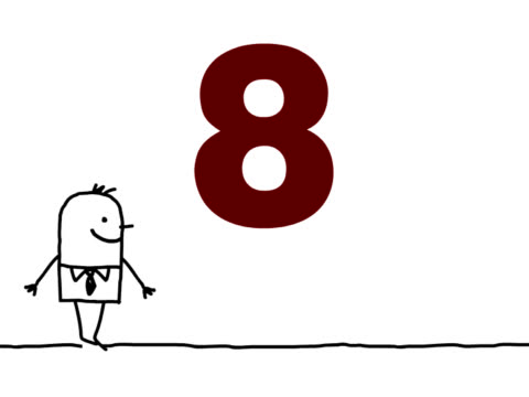 animated character & count down video
