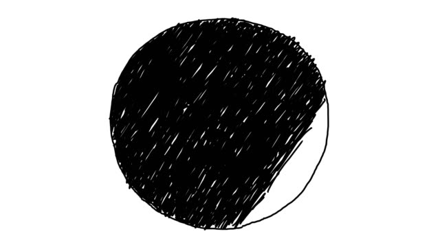 animated circle background sketch style - набросок стоковые видео и кадры b-roll