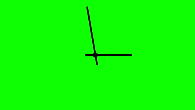 Animated Clock Hands on Chroma Key Green Background video