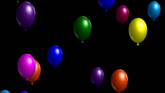 Animated colorful air balloons fly up Fun colorful air balloons fly up to the sky. Animated background for anniversary celebration party. Bright decorative elements for birthday. Seamless loop. hot air balloon stock videos & royalty-free footage