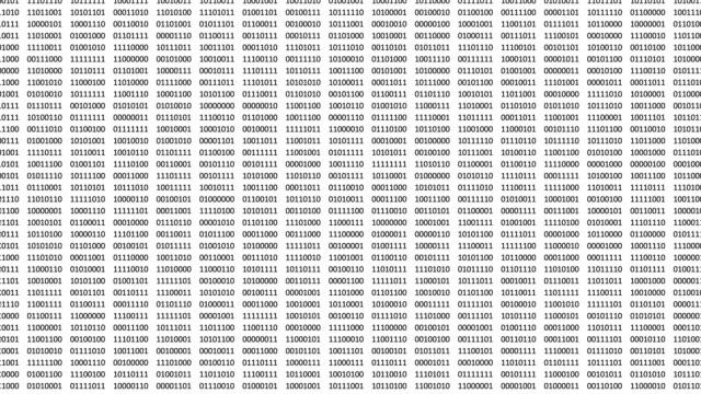 vídeos de stock e filmes b-roll de animated digital bits and bytes on a computer screen. - bit código binário