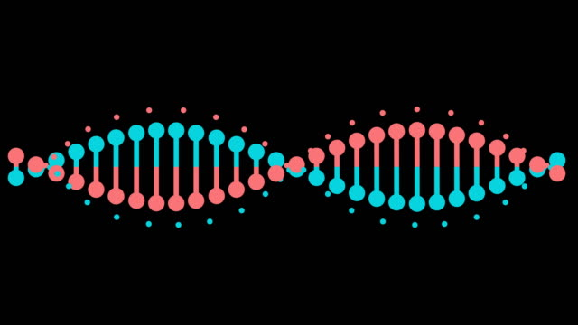 animated dna. alpha matte included. 4k video - icon set healthy video stock e b–roll