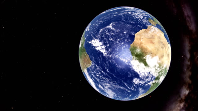 Animated earth zoom from space to street level video
