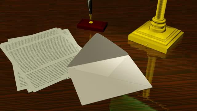 vidéos et rushes de animé enveloppe lettre ouverture (hd - carte postale