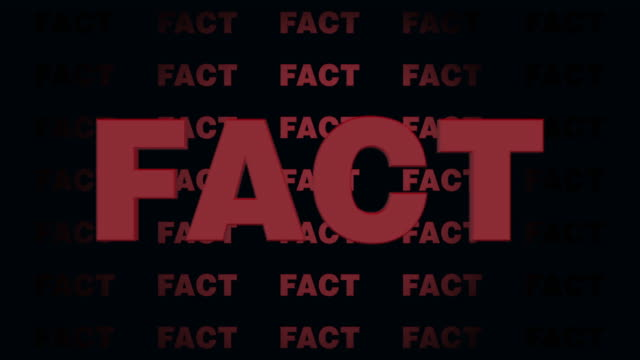 animated fake fact writing, ideal footage for social media and fake news, 4k