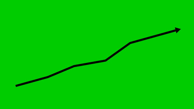 Animated financial growth chart with trend line graph. Growth bar chart of economy. Vector illustration isolated on green background. Animated financial growth chart with trend line graph. Growth bar chart of economy. Vector illustration isolated on green background. growth icon stock videos & royalty-free footage