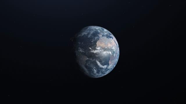 animerad första persons syn på ett rymdskepp som lämnar omloppsbana runt jorden - earth from space bildbanksvideor och videomaterial från bakom kulisserna