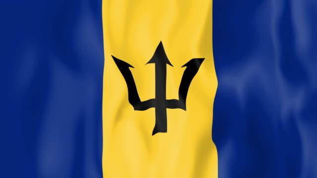 Animated flag of Barbados video