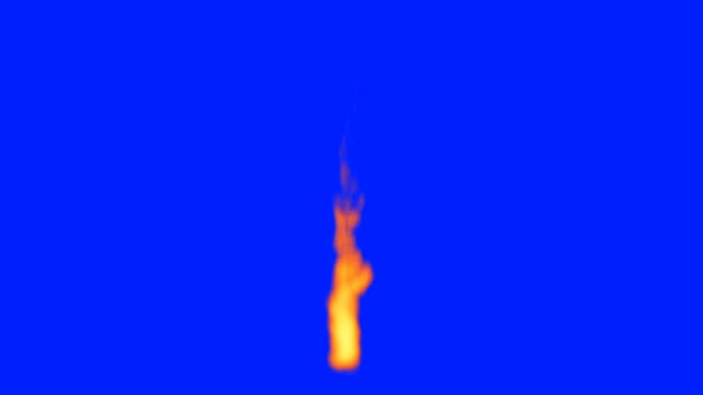Animated Flame on a blue screen video