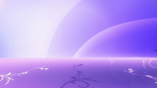 Animierte Blumen Hintergrund (Blau/Lila)-Loop – Video
