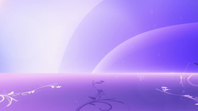Animated Flower Background (Blue/Purple) - Loop video