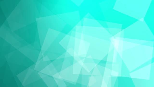 Arrière-plan animé de géométrique dans les cases bleues ralenti. - Vidéo