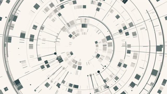 animierte geometrische zeichnung, tech-hintergrund aus vielen formen - ewigkeit stock-videos und b-roll-filmmaterial