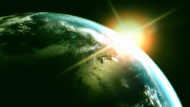 Animated globe. Video background. Earth from space. Loop. video