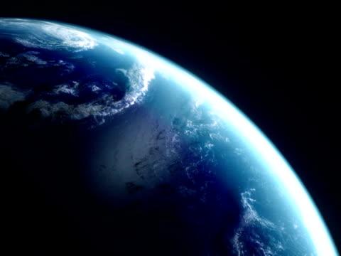 Animierte Welt. Hintergrund Video. Die erde vom weltraum. Schleife. – Video